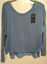 M & S Cropped Jumper with Detachable Vest Uk 20 Blue Bnwt
