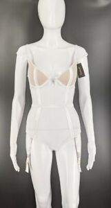 Fredericks of Hollywood Monica Michelle White Intimate Bodysuit Size Small NWT