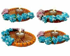 Indian Festival diwali Design Diya Tea Light Candle Holder for Diwali set of 4