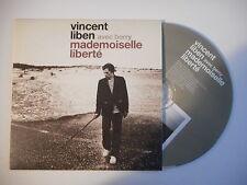 VINCENT LIBEN avec BERRY : MADEMOISELLE LIBERTE [ CD SINGLE PORT GRATUIT ]
