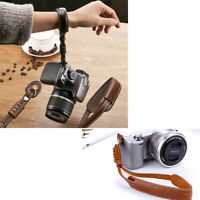 Dslr Camera Photo Hand Wrist Leather Strap For Canon Nikon Sony Universal