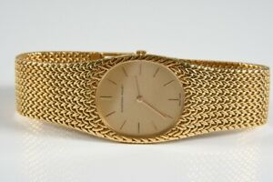 k47w27- Audemars Piguet Armbanduhr, 750er/ 18kt Gold, Saphirglas, Handaufzug