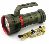 200M DIVE TORCH ARMY GREEN 10000LM 6x XM-L2 LED UNDERWATER DIVING FLASHLIGHT WAT