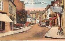 Bourbonnais France street scene Rue Nationale et le Chateau antique pc Z23930