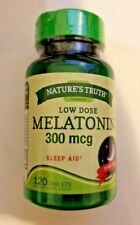 NEW NATURE'S TRUTH LOW DOSE MELATONIN 300mcg SLEEP AID 120 TABLETS