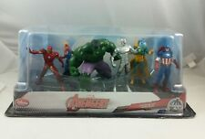 Marvel Avengers 6 Pieces Figurines Set, Disney Store, New old stock