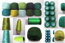 GREEN Thread Yarn Crochet Embroidery Knitting Lace Trim DIY Viscose Cotton Rayon