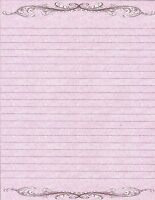 Classical Design Lined Stationery Writing Paper Set with 25 sheets &10 envelopes