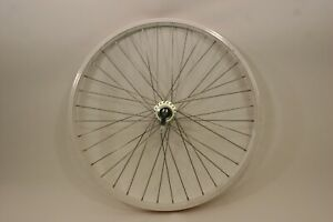 Alex 26 inch Disc Front Wheel Alloy White,12 Ga Spokes, 6 Bolt 100 mm QR 36h F3