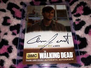 The Walking Dead Season 4 Authentic Autograph Andrew J. West as Gareth #AJW1