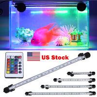 18-48 Underwater Submersible Color Changing LED RGB Light Aquarium Fish Tank US