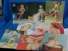 9-1940s PIN UP GIRL Illustrated + Photos SALESMAN Sample CALENDAR TOPS