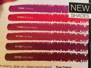 NEW True Colour Glimmerstick Lip Liners 6 NEW shades! RRP £6 each!