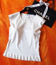 Chanel LUSSO Pullover Shirt DG .36/38 fr.38 incredibilmente bello!