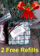 Christmas Gift! Bird Hummingbird Alpaca Fiber Nesting Material Basket+2 Refills