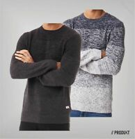 Mens PRODUKT Cotton Long Sleeve Crew Neck Knitted Top Sizes from S to XXL