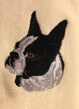 Boston Terrier, Towel, Embroidered, Custom, Personalized, Dog