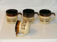 Set of 4 HARDEE'S Rise And Shine COFFEE MUGS Homemade Biscuits 9 Oz 1986/1989