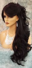 """28"""" WAVY LONG THICK HEAT FRIENDLY WIG COLOR #1B BLACK GORGEOUS SEXY USA 1022"""