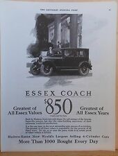 Vintage 1925 magazine ad for Essex - Coach, Greatest of All Essex Values, Years