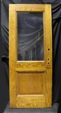 """32""""x79.5""""x1.75"""" Antique Vintage Old Oak Wood Wooden Door Window Glass Lite Pane"""