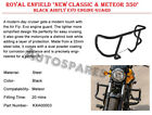 """ROYAL ENFIELD """"NEW CLASSIC & METEOR 350"""" BLACK AIRFLY EVO ENGINE GUARD"""