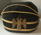 32nd Degree Master Mason Double Eagle Scottish Rite Hat Fez size 7 1/4