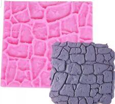 Coble muro de piedra Molde de Silicona Molde-Castillo-Alfombra De Textura-Fondant Piso impresión