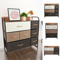 4/5/7 Drawers Dresser Storage Chest Home Fabric Organizer Bins Cabinet Bedroom