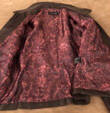 COUTURE By J Park~ Womens Genuine Lamb Leather Brown Jacket~ Sz PLg~Lined. EUC!