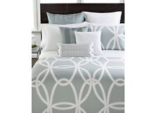 Hotel Collection Modern Rib Matelasse White Quilted Euro Sham Retails $80