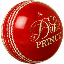"""6x Dukes Prince """"A"""" Red Cricket Ball Size:Mens (156g)"""