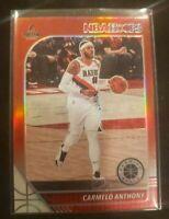 Carmelo Anthony NBA Hoops Premium Stock Red Prizm - Portland Trailblazers