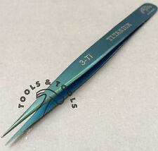 Pinzas de titanio de calidad 3-Ti 120 mm Anti magnética herramienta de reparación de relojes y joyería