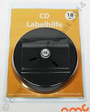 Zentrierhilfe für CD und DVD Etiketten mit 18mm Innenloch