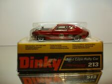 DINKY TOYS 213 FORD CAPRI RALLY CAR - #20 - RED METALLIC 1:43 - VERY GOOD IN BOX