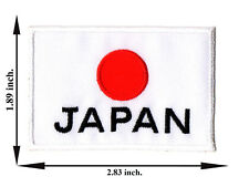 Japan JP Japaness Travel Flag Nation Country DIY V.2 Applique Iron on Patch Sew