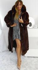 Abrigo de piel abrigo vison real Mink fur coat Pelliccia visone fourrure vison fox mex
