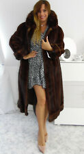 Pelzmantel Nerzmantel Real Mink Fur coat Pelliccia visone Fourrure Vison Fox Mex