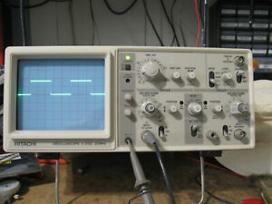 HITACHI V-252 20MHz 2 CHANNEL BENCH LAB OSCILLOSCOPE Works Great!