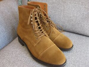 Polo Ralph Lauren Snuff Beige Suede Leather Boots Brand New UK 9