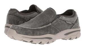 Hot SKECHERS Men's Memory Foam Slip On Shoes Med and XWide in Camo Grey Nav&Tan