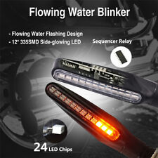 12V Flowing Turn Signals Light Driving DRL 24LED Waterproof Motorcycle
