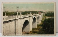 Washington DC Connecticut Blvd Bridge Largest Concrete Bridge 1924 Postcard C11