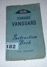 STANDARD VANGUARD INSTRUCTION BOOK / HANDBOOK.1953