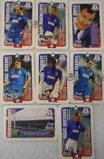 Everton Subbuteo escadrons FOOTBALL CARDS 1996 HASBRO TRADING CARDS X 8
