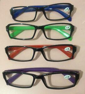 Moderne Lesebrillen Lesehilfe Brillen Sehhilfe Lesebrille vers. Farben & DPT NEU