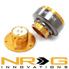 NRG 2.0 Gen Steering Wheel Quick Release Hub - Rose Gold  / Titanium Chrome Ring