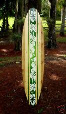 Tropical Green 5 foot Longboard Wooden Surfboard Art Home Office Beach Decor