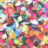 Colorful Wedding Paper Glitter Confetti Circles Round Throwing Table Party Decor